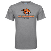 Grey T Shirt-Stacked Georgetown Mark