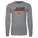 Grey Long Sleeve T Shirt-Championships