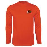 Syntrel Performance Orange Longsleeve Shirt-Official Logo