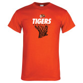 Orange T Shirt-Basketball Design