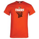 Orange T Shirt-Basketball Design