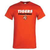 Orange T Shirt-Volleyball Design