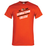 Orange T Shirt-Georgetown College Est 1829