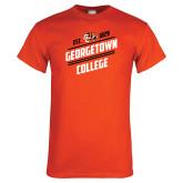 Orange T Shirt-Georgetown College Est 1829