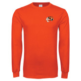 Orange Long Sleeve T Shirt-Official Logo