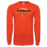 Orange Long Sleeve T Shirt-Baseball Design