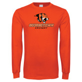 Orange Long Sleeve T Shirt-Archery