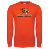 Orange Long Sleeve T Shirt-Acro and Tumbling