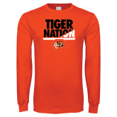 Orange Long Sleeve T Shirt-Tiger Nation