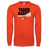 Orange Long Sleeve T Shirt-Tiger Nation
