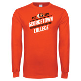 Orange Long Sleeve T Shirt-Georgetown College Est 1829