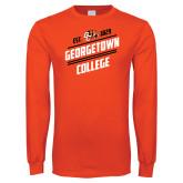 Orange Long Sleeve T Shirt-Georgetown College Est 1829