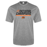 Performance Grey Heather Contender Tee-Championships
