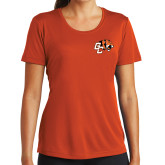 Ladies Performance Orange Tee-Official Logo