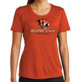 Ladies Performance Orange Tee-Football