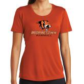 Ladies Performance Orange Tee-Baseball
