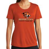 Ladies Performance Orange Tee-Acro and Tumbling