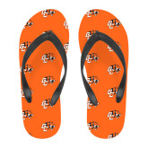 Full Color Flip Flops-Stacked Georgetown Mark