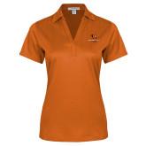 Ladies Orange Performance Fine Jacquard Polo-Stacked Georgetown Mark