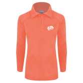 Columbia Ladies Half Zip Coral Fleece Jacket-Official Logo