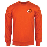 Orange Fleece Crew-Official Logo