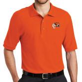Orange Easycare Pique Polo-Official Logo
