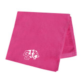 Pink Beach Towel-Official Logo