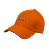 Orange Heavyweight Twill Pro Style Hat-Wordmark