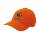 Orange Flexfit Mid Profile Hat-Stacked Georgetown Mark