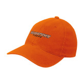Orange Flexfit Mid Profile Hat-Wordmark