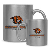 Full Color Silver Metallic Mug 11oz-Stacked Georgetown Mark