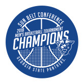 Medium Decal-Sun Belt Mens Basketball Champions