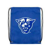 Royal Drawstring Backpack-Panther Head