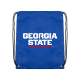 Royal Drawstring Backpack-Georgia State Wordmark