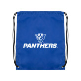 Royal Drawstring Backpack-Panthers w/ Panther Head