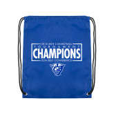 Royal Drawstring Backpack-2018 Mens Basketball Tournament Champions