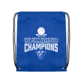Royal Drawstring Backpack-2018 Mens Sun Belt Champions