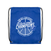 Royal Drawstring Backpack-Sun Belt Mens Basketball Champions