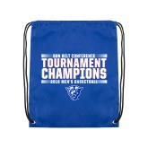 Royal Drawstring Backpack-Sun Belt Mens Tournament Champions