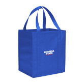 Non Woven Royal Grocery Tote-Georgia State Wordmark