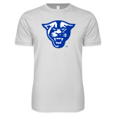 Next Level SoftStyle White T Shirt-Panther Head