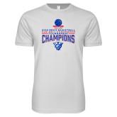 Next Level SoftStyle White T Shirt-2018 Mens Sun Belt Champions