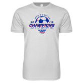 Next Level SoftStyle White T Shirt-2018 Georgia State Mens Soccer Champions