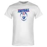 White T Shirt-Panther Head w/ Football