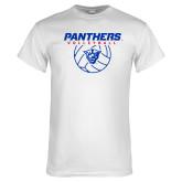 White T Shirt-Panthers Volleyball w/ Ball