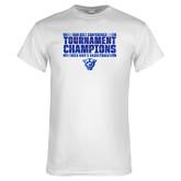 White T Shirt-Sun Belt Mens Tournament Champions