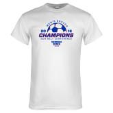 White T Shirt-2018 Georgia State Mens Soccer Champions