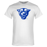 White T Shirt-Panther Head