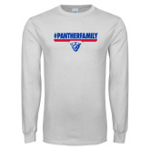 White Long Sleeve T Shirt-#PantherFamily
