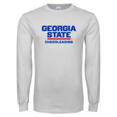 White Long Sleeve T Shirt-Cheerleading